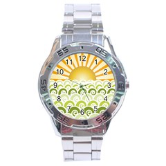 Along The Green Waves Stainless Steel Watch (men s)