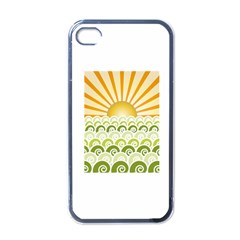Along The Green Waves Apple Iphone 4 Case (black)