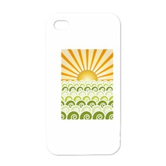Along The Green Waves Apple iPhone 4 Case (White)