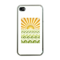 Along The Green Waves Apple Iphone 4 Case (clear)