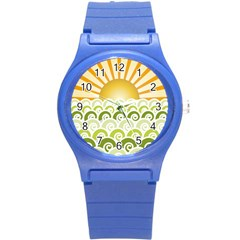 Along The Green Waves Plastic Sport Watch (Small)
