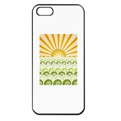 Along The Green Waves Apple Iphone 5 Seamless Case (black)