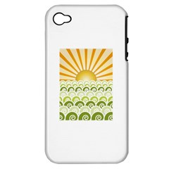 Along The Green Waves Apple iPhone 4/4S Hardshell Case (PC+Silicone)