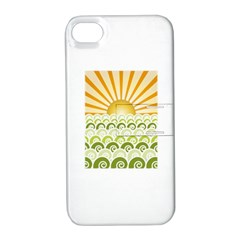 Along The Green Waves Apple iPhone 4/4S Hardshell Case with Stand