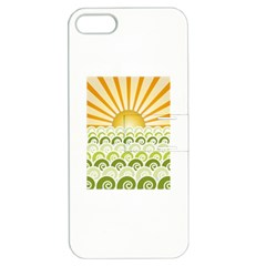 Along The Green Waves Apple iPhone 5 Hardshell Case with Stand