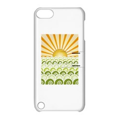 Along The Green Waves Apple Ipod Touch 5 Hardshell Case With Stand