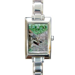 Red Wolf Rectangular Italian Charm Watch