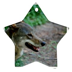 Red Wolf Star Ornament