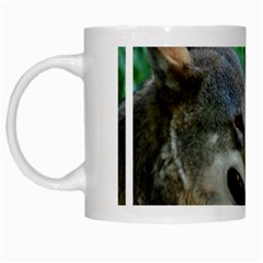 Red Wolf White Coffee Mug