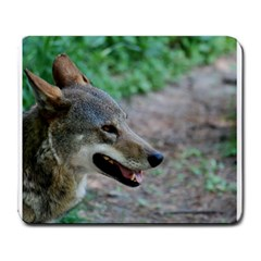 Red Wolf Large Mouse Pad (Rectangle)