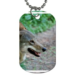 Red Wolf Dog Tag (One Sided)