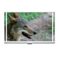Red Wolf Business Card Holder