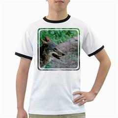 Red Wolf Mens' Ringer T-shirt