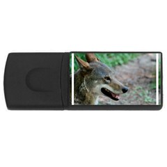Red Wolf 4GB USB Flash Drive (Rectangle)