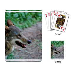 Red Wolf Playing Cards Single Design