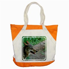 Red Wolf Accent Tote Bag