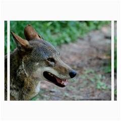 Red Wolf Glasses Cloth (Large, Two Sided)