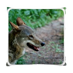 Red Wolf Cushion Case (one Side)