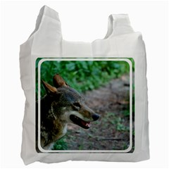 Red Wolf Recycle Bag (One Side)