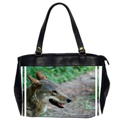 Red Wolf Oversize Office Handbag (Two Sides)