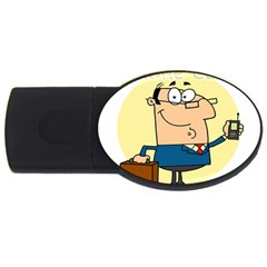 Phonecase1 4GB USB Flash Drive (Oval)