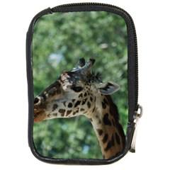 Cute Giraffe Compact Camera Leather Case