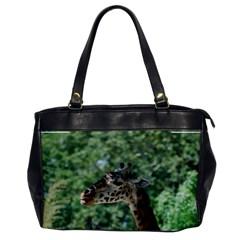 Cute Giraffe Oversize Office Handbag (One Side)