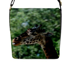 Cute Giraffe Flap Closure Messenger Bag (Large)