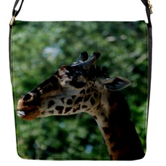 Cute Giraffe Flap Closure Messenger Bag (small)