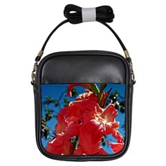 Abeautiful Coral Gladioli  Girl s Sling Bag