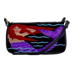Red Haired Mermaid Clutch Purse Evening Bag