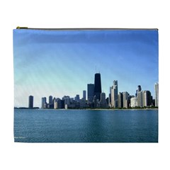 Chicago Skyline Cosmetic Bag (XL)
