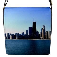 Chicago Skyline Flap closure messenger bag (Small)