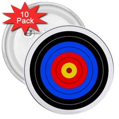 Target 3  Button (10 pack)