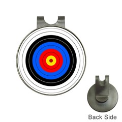 Target Hat Clip with Golf Ball Marker
