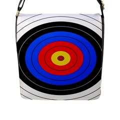 Target Flap Closure Messenger Bag (Large)