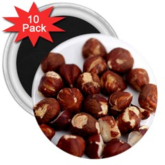 Hazelnuts 3  Button Magnet (10 pack)