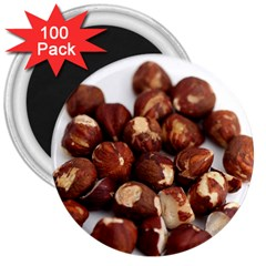 Hazelnuts 3  Button Magnet (100 pack)