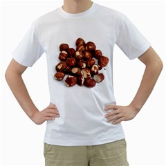 Hazelnuts Mens  T Shirt (white)