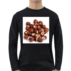 Hazelnuts Mens' Long Sleeve T Shirt (dark Colored)