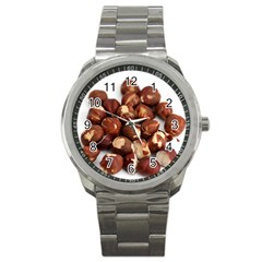 Hazelnuts Sport Metal Watch