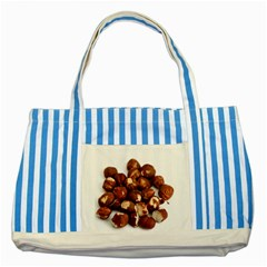 Hazelnuts Blue Striped Tote Bag
