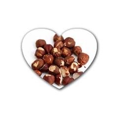 Hazelnuts Drink Coasters 4 Pack (Heart)