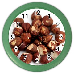 Hazelnuts Wall Clock (color)