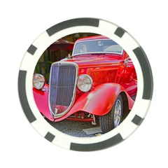 Classic Old Car Show Car Red Poker Chip 10 Pack