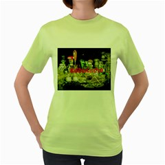 Dabdabcity710 Womens  T Shirt (green)