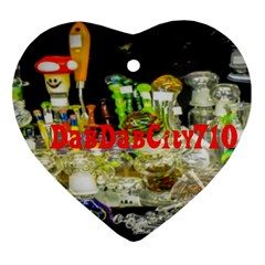 Dabdabcity710 Heart Ornament (two Sides)