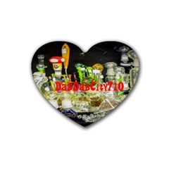 DabDabCity710 Drink Coasters 4 Pack (Heart)