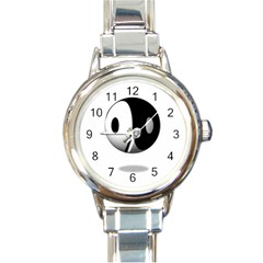 Yin Yang Round Italian Charm Watch