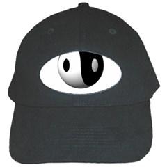 Yin Yang Black Baseball Cap